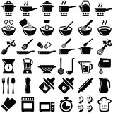 Cooking and kitchen icon collection - vector silhouette - 132411138