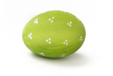 Green easter egg isolated on a white.