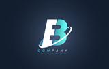 Letter b blue white logo icon design