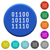 Binary code beveled buttons