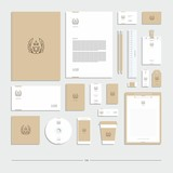 Corporate identity, stationery set, sign, symbol, owl.