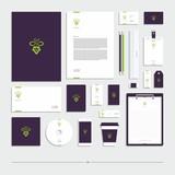 Corporate identity, stationery set, sign, symbol, grapes.