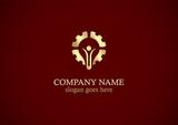 gear creative work gold logo