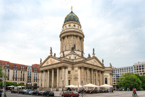 Poster BERLIN, GERMANY- May 18, 2016: The Gendarmenmarkt is a square in