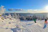 verschneite Winterlandschaft frostig kalt