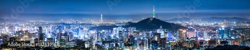 Seoul Skyline Panorama bei Nacht