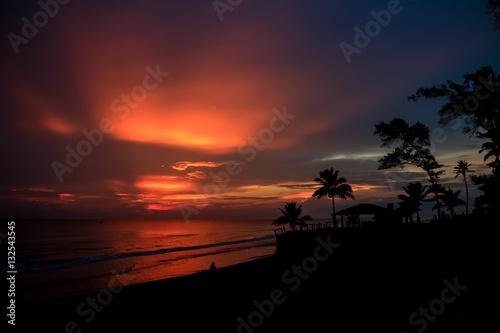 Poster Amanecer en la playa de Casitas en Veracruz