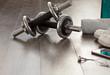 Detaily fotografie fitness equipment