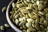 Green pumpkin seeds - pepita  - 132544736