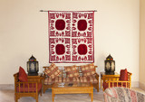 Vintage turkish arabian or indian lantern interior. Pillow on sofa decoration interior with morocco style photo - 132546710