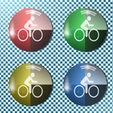 bike button,icon, sign, 3D illustration