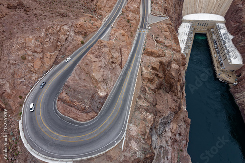 Poster Serpentine Road to Hoover Dam