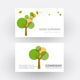 round green tree, environment concept. vector professional busin
