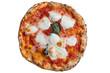 Quadro A real neapolitan pizza margherita on white backgrund