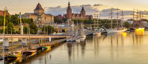 sailing ships at the wharf in Szczecin, Tall Ships Races 2015