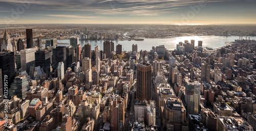 Foto op Aluminium New York View of the Lower East Side of Manhattan