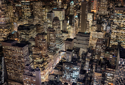 Bright city lights of New York City, USA Poster