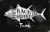 Tuna cutting scheme chalk