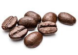 Fototapety roasted coffee beans isolated in white background cutout