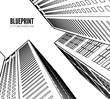 Building wireframe. 3d render city. - 132609175