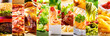 collage of food products - 132611310