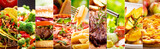 Fototapety collage of food products