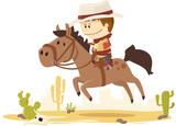 cow boy au galop - 132630714