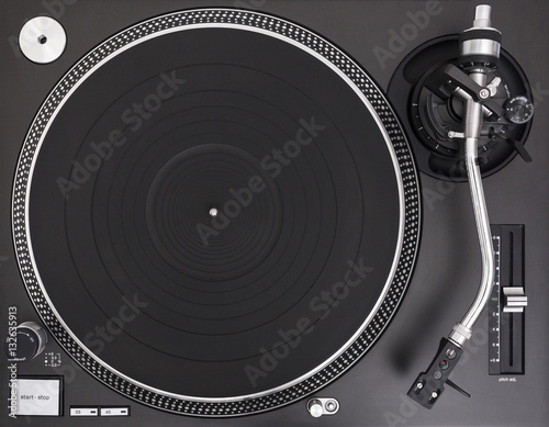 Poster Professional DJ Turntable Equipment, Top View