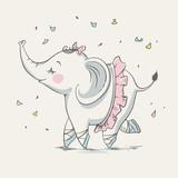 Urocza tańcząca słonica