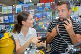 scuba equipment shop - 132640737