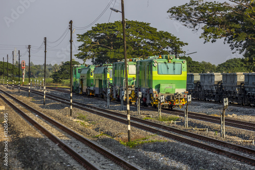 Poster Maintenance train of State railway of thailand