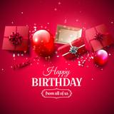 Luxury birthday greeting card