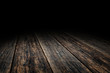 Grunge Plank wood floor texture perspective background for displ - 132658943