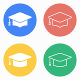 Graduation icon set.