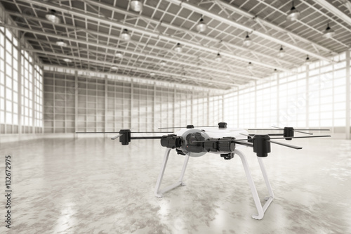 Juliste drone in factory