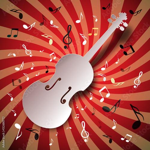 fondo-de-vector-de-musica-retro-con-violin-y-notas