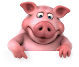 Fototapety Fun pig - 3D Illustration