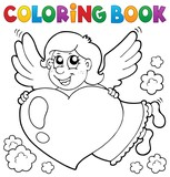 Coloring book Cupid topic 3