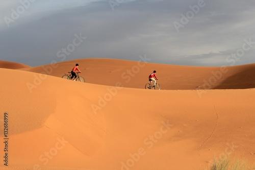 Poster Sanddünen bei Merzouga