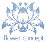 Lotus Flower Floral Design Concept Icon