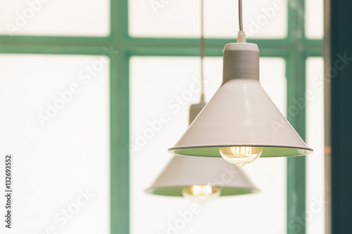 Poster Vintage style light lamps