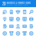 Line icons set. Flat thin linear stroke vector Business concepts.