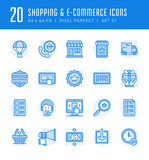 Line icons set. Flat thin linear stroke vector Shopping concepts