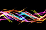 Abstract colorful background flames effect lighting. Multicolor blurred waves design. Glowing element for your creative graphics. - 132703943