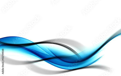 Awesome Art Abstract Blue Black Background Waves Design