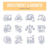 Investment & Growth Doodle Icons - 132705353