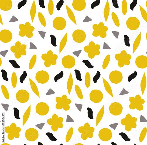 Materiał do szycia Ozdobnych, tradycyjny, prosty wzór z kwiatami. Ładny wydruku z kropką w stylu skandynawskim.