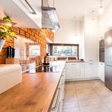 Spacious stylish kitchen