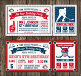 Vector Hockey Invite templates