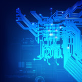 abstract electronic board, futuristic backdrop